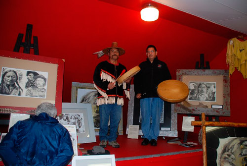 Fred Rolland and Dwayne Antoine of the Cowichan and Penelakut First Nations